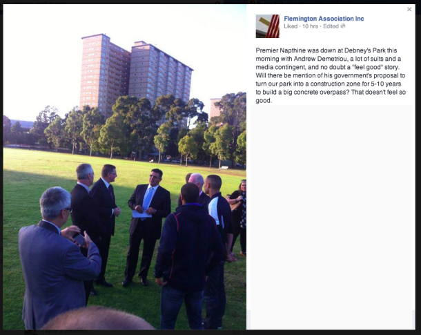 Napthine in park fixed