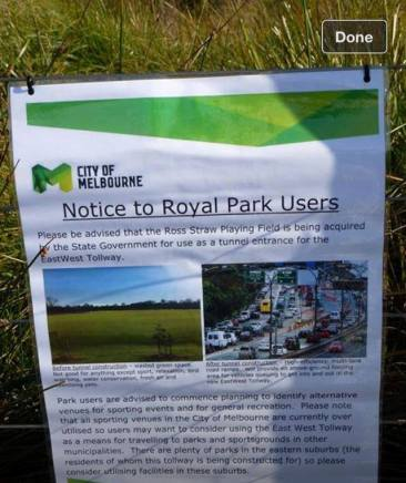 Spoof Notice at Ross STraw